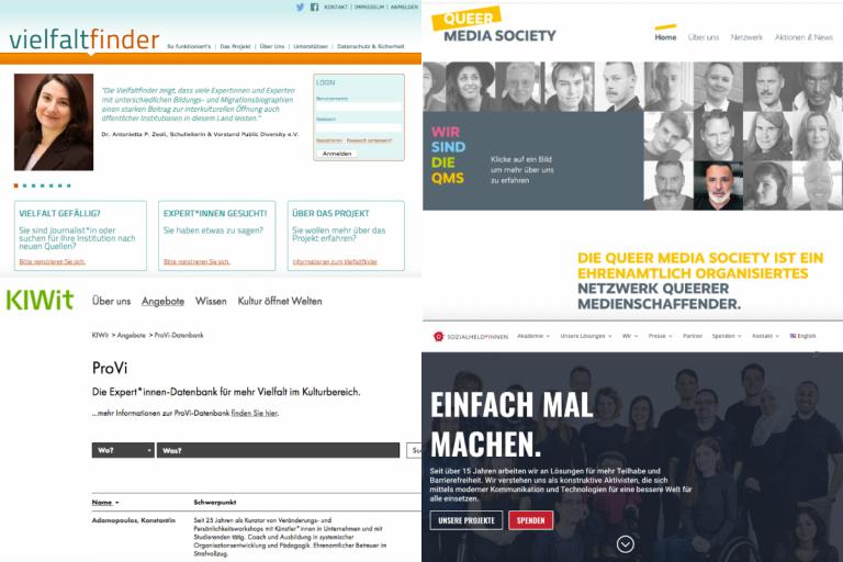 Collage Screenshots Website aus Artikel