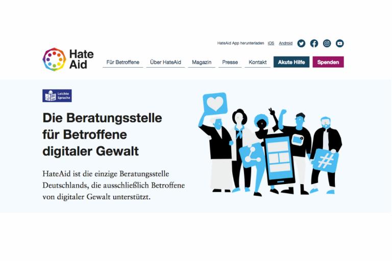 Screenshot Website HateAid