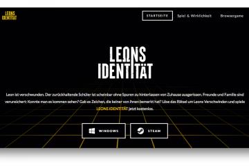 Screenshot Website Leons Identität