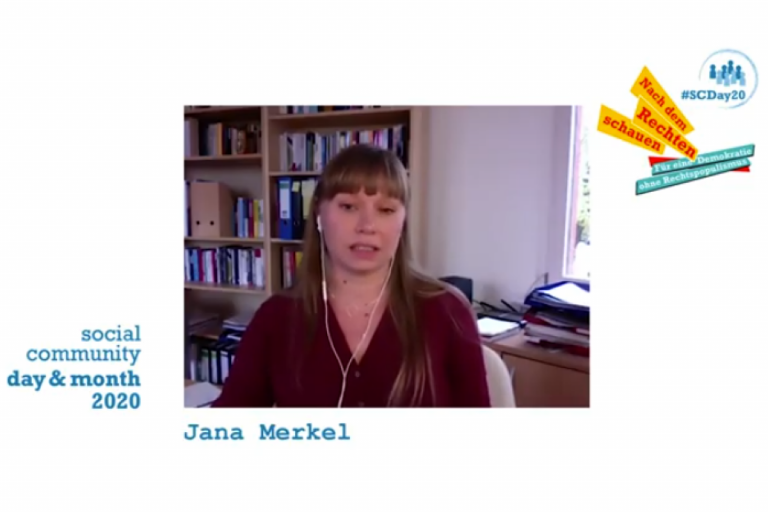 Screenshot Interview Jana Merkel